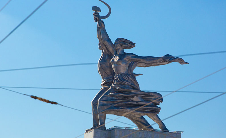 Worker and Kolkhoz Woman monument, Moscow, Russia